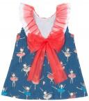 Vestido Bailarinas & Lazada Espalda Tul Coral
