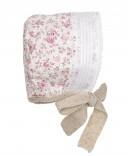 Capota estampado floral rosa & beige