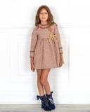 Rochy Vestido Niña Tweed Caldera & Lazo Dorado