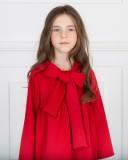 Missbaby Vestido Gala Rojo con Lazada Inglesa Cuello