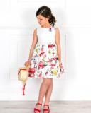 Vestido Niña Blanco Roto con Flecos Multicolor & Lazada