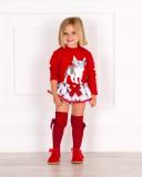 Outfit Conjunto Frenchie & Botines Glitter Rojo