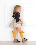 Outfit Niña Conjunto Pingüinos & Botines Glitter Negro
