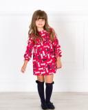 Outfit Niña Vestido Perritos Rojo & Marino