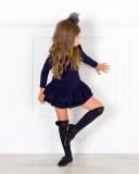 Outfit Niña Vestido Volantes Punto Marino