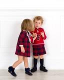 Outfit Niños Coordinados Conjunto & Vestido Cuadros Foque
