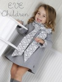 Vestido gris lazo