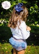 Conjunto Jersey, Blusa & Short Volantes de Tul Colección Abby