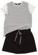 Blusa Gasa de Plumeti blanco & negro