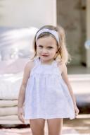 Vestido Baño Bebé  Estampado Floral Celeste