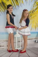 Conjunto niña vela, short y bluson marinero,compra Kauli online