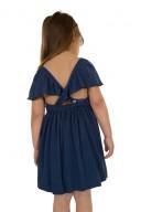 Vestido Espalda Cruzada Azul