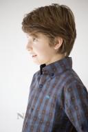 Camisa Leo Cuadros Negro & Azul