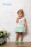 Vestido Combinado Intarsia Oca Blanco & Verde