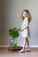 Vestido Niña Estampado Tropical Verde