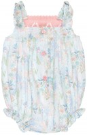 Foque Ranita Bebé Estampado Floral Rosa & Azul
