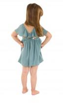Vestido Espalda Cruzada Verde
