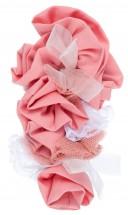 Nini Moda Infantil Jesusito Niña Rosa Bordado Blanco & Flores