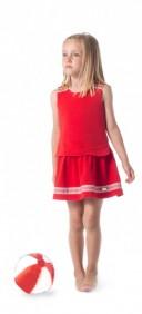 Vestido Efecto Top & Falda Rojo