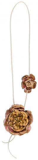 Badum Badero Collar Flores Doradas & Rosas