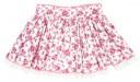 Falda Estampado Floral & Volante Puntilla