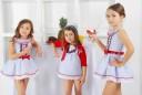 Vestido Marivent | Celeste, Blanco & Rojo