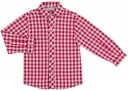 Conjunto Niño Camisa Cuadros Granate & Short Beige