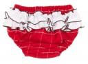 Conjunto Vestido Volantes & Braguita Cuadros Rojo