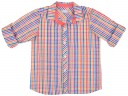 Conjunto Niño Camisa Cuadros Multicolor & Pantalón Corto Blanco