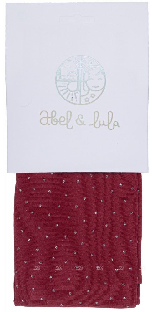 Abel & Lula Panty Espuma Fantasía Granate & Topos Glitter Plata