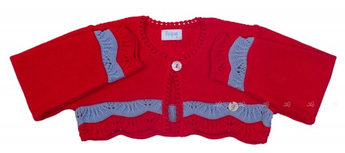 Red & Knitted Bolero