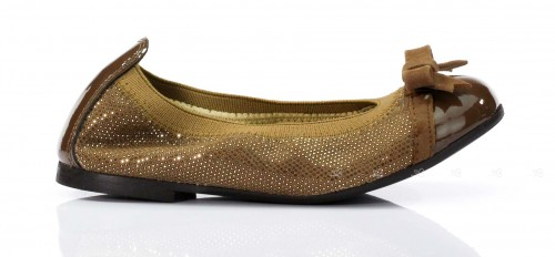 Mink Cristallized Ballet Pumps
