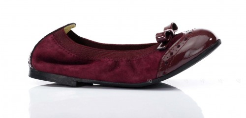 Aubergine Bow Ballet Pumps