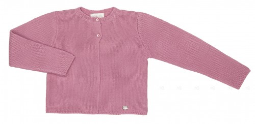 Girls Dusky Pink Knitted Cardigan