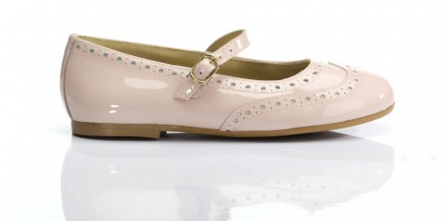 Nude Patent Mary Janes