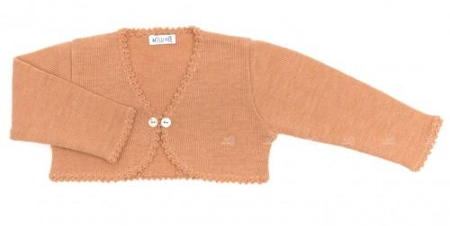 Beige Knitted Merino & Cashmere Bolero