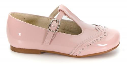 Blush Pink Patent Mary Janes