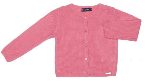 Girls Pink Knitted Cardigan