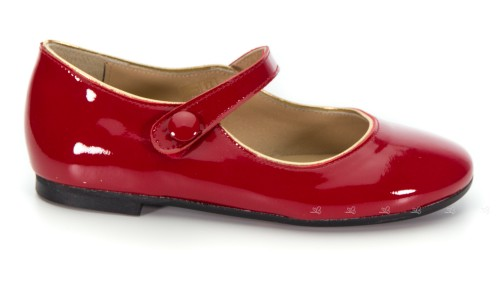 Girls Red Patent Mary Janes