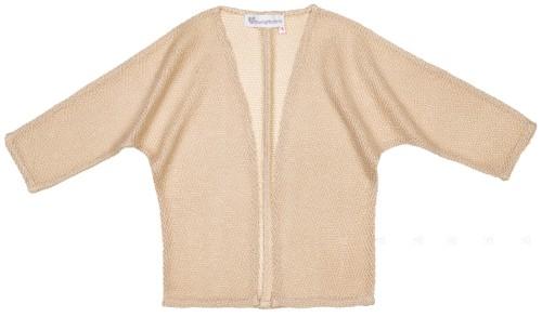 Girls Beige Knitted Cardigan
