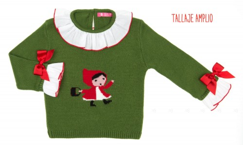 Green & Red Little Red Riding Hood Sweater