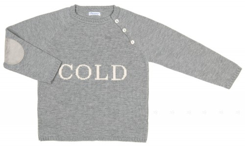 Gray Knitted Cold Sweater