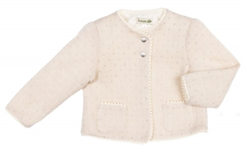 Beige & Silver Knitted Cardigan