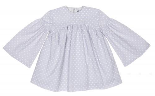 Pearl Gray & White Polka Dot Dress