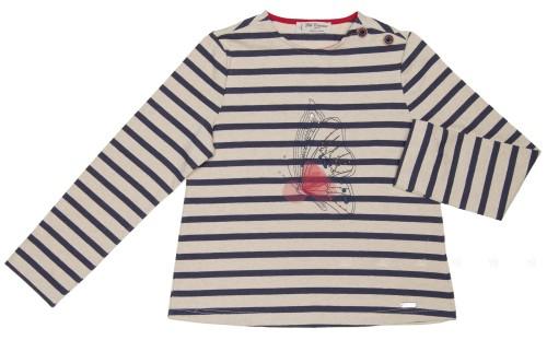 Beige & Blue Jersey Butterfly & SWAROVSKI ELEMENTS Sweater
