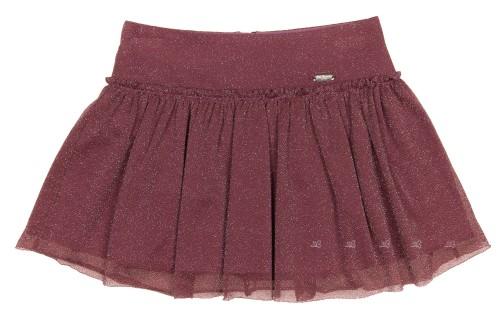 Girls Plum & Silver Tulle Skirt