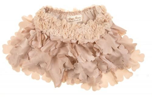 Beige Silk & Petal Shorts