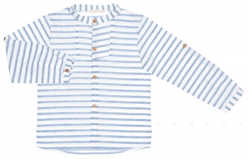 Boys Navy Blue Striped Shirt