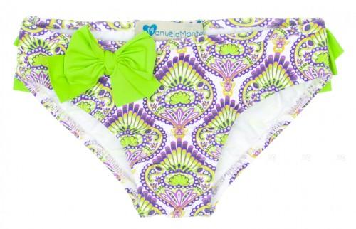 "Purple & Green ""Lima"" Bikini Bottoms"