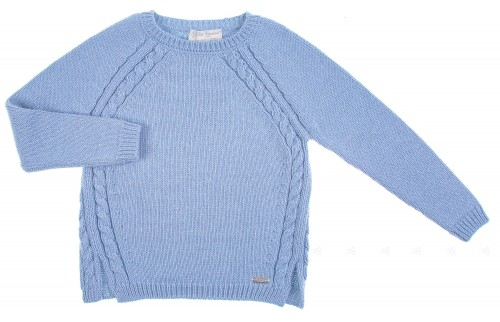 Pale Blue Knitted sweater with Silver Sparkle